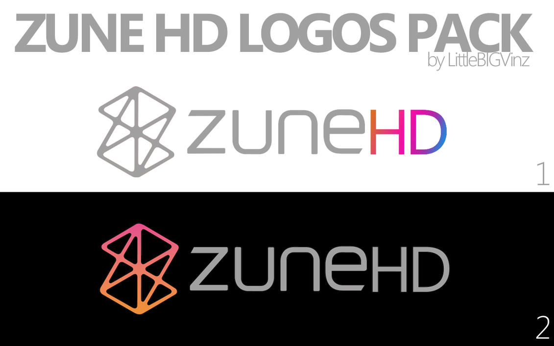 Zune HD Logos Pack by metrovinz