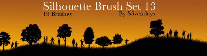 Silhouette Brush Set 13 by s3vendays