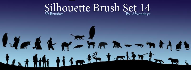 Silhouette Brush Set 14