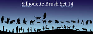 Silhouette Brush Set 14