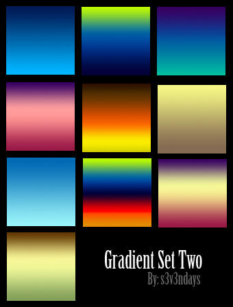 Gradient Set Two by s3vendays