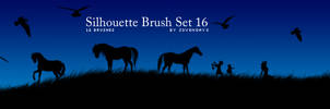 Silhouette Brush Set 16