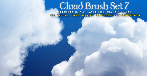 Cloud Brush Set 7 by s3vendays