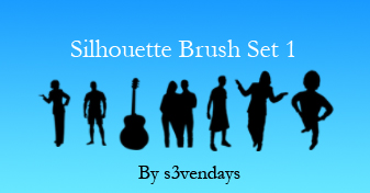 Silhouette Brush Set 1 by s3vendays