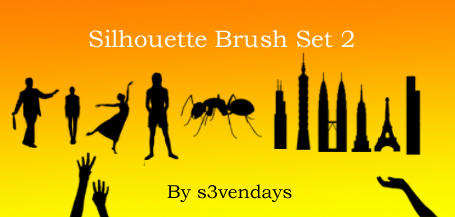 Silhouette Brush Set 2 by s3vendays