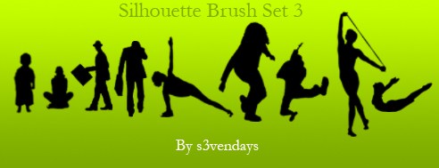 Silhouette Brush Set 3 by s3vendays