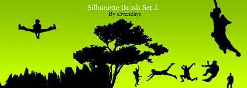 Silhouette Brush Set 5 by s3vendays