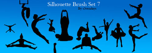 Silhouette Brush Set 7 by s3vendays