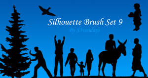 Silhouette Brush Set 9