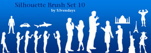 Silhouette Brush Set 10