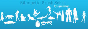 Silhouette Brush Set 11 by s3vendays