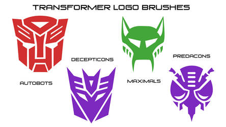 Transformers logo brushes