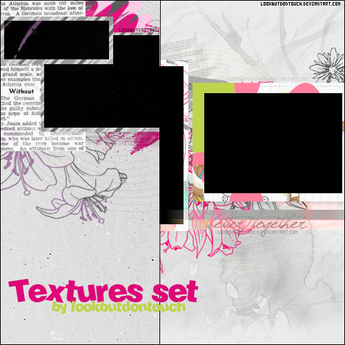 Set Of Textures by Lookbutdontouch