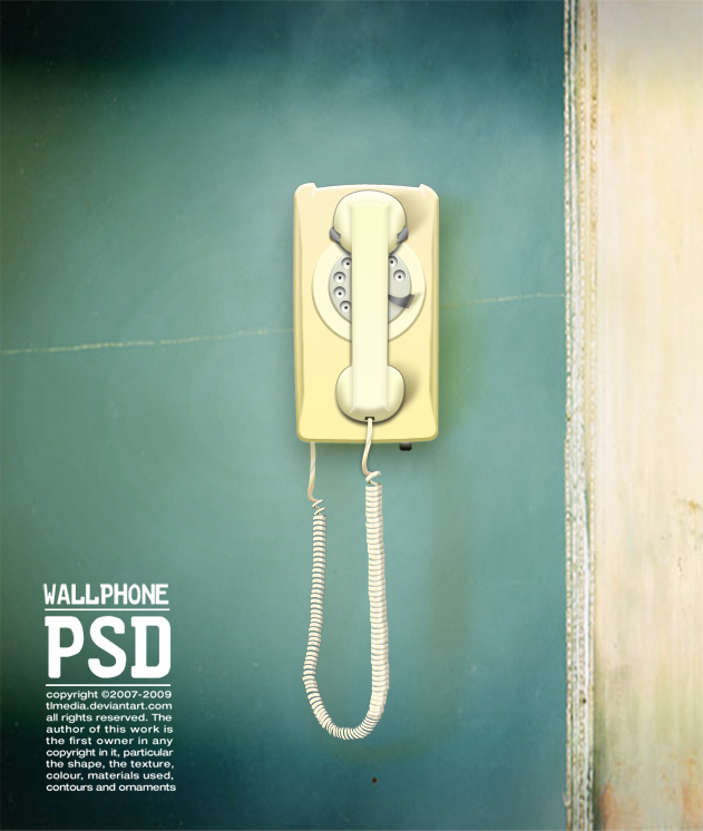 wall phone PSD