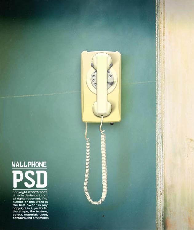 wall phone PSD