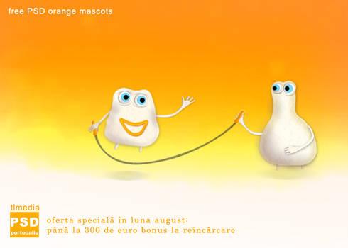 mascote portocalii PSD