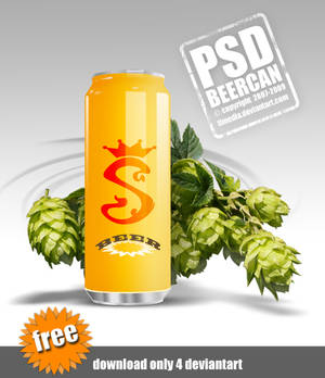 BEER can psd