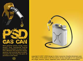 Gas Can PSD by TLMedia