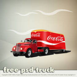 Coca Cola Truck PSD