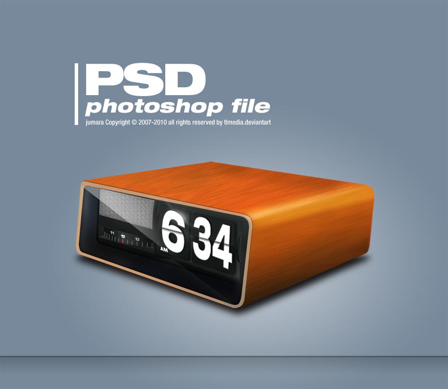 retro clock PSD