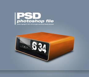 retro clock PSD by TLMedia