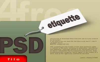 etiquette  PSD by TLMedia