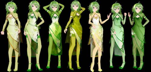 TDA GUMI Canary China Dress Model DL by ConejoBlanca