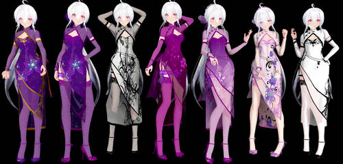TDA Haku Canary China Dress Model DL by ConejoBlanca