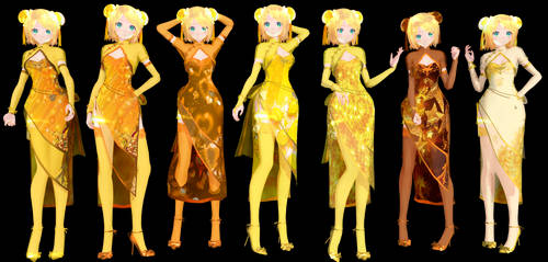 TDA Rin Canary China Dress Model DL by ConejoBlanca