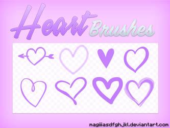 Heart brushes by MagiiiAsdfghjkl
