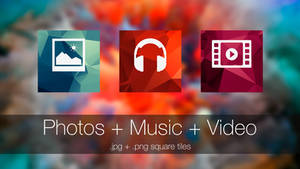Photo + Music + Video (square tiles)