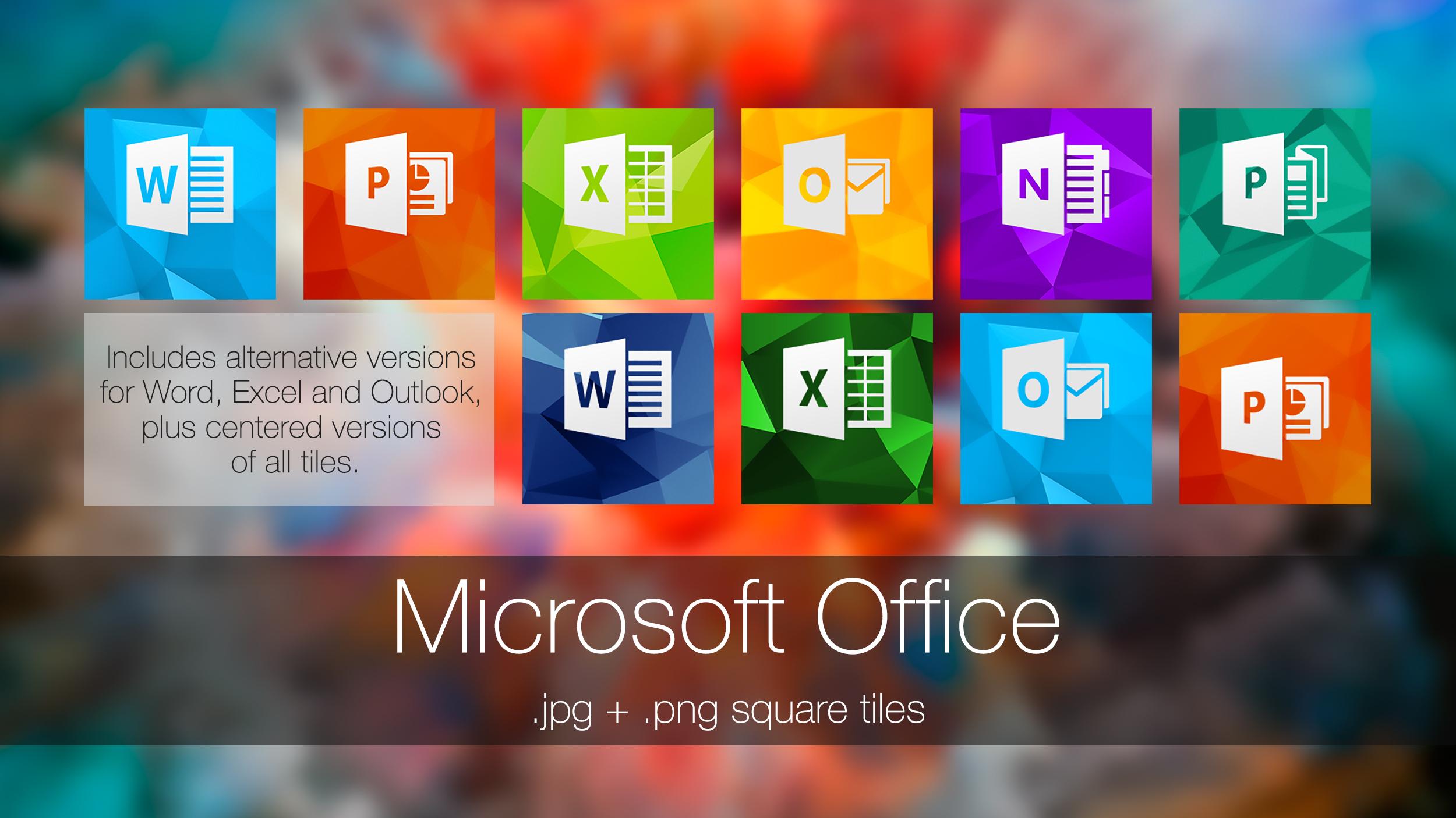 Microsoft Office (square tiles)