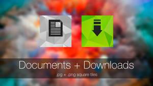 Documents + Downloads (square tiles)