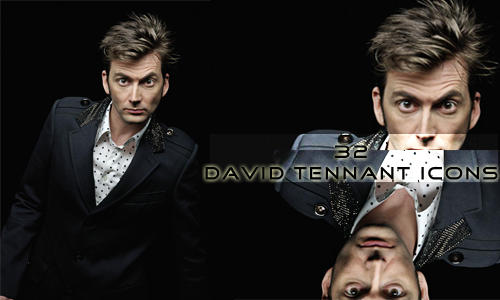 David Tennant Icon Set 2 by BloodyDeath11