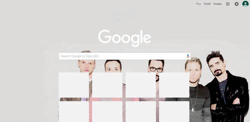 Backstreet Boy Google Chrome Theme
