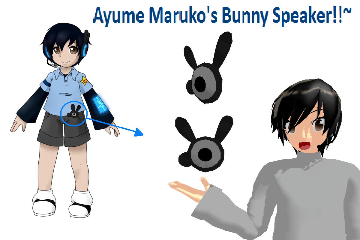 MMD Ayume Maruko's Bunny Speaker +DL by wizardotaku
