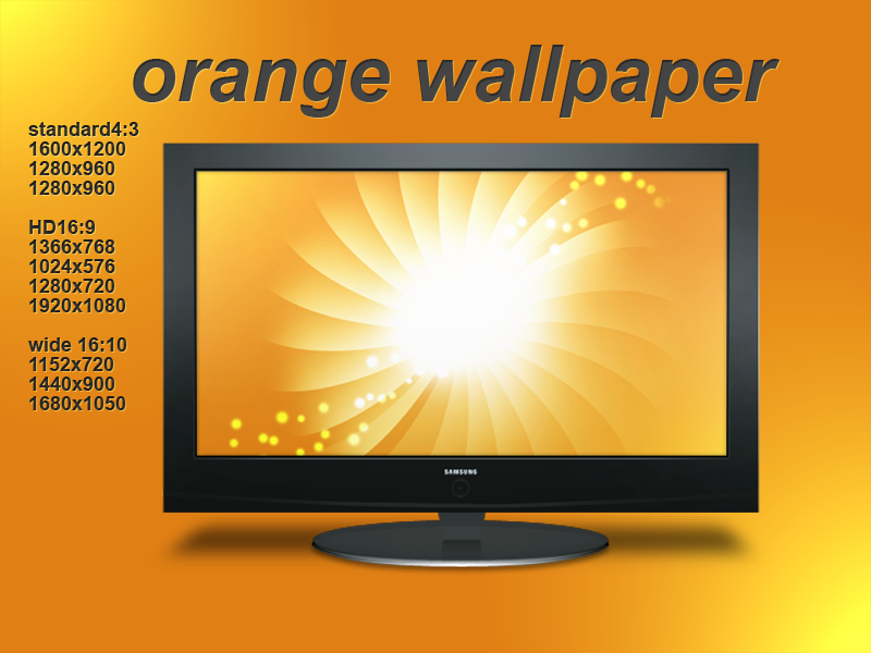 Great Design Wallpaper : Orange wallpaper by great design on deviantart