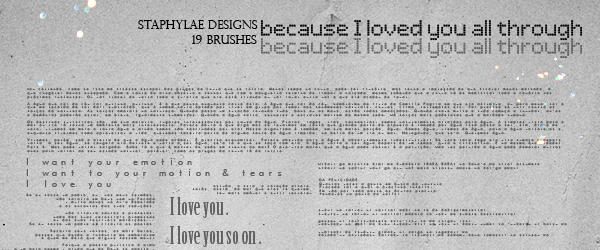 staphylae text brushes by anliah