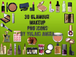 30 glamour makeup png icons