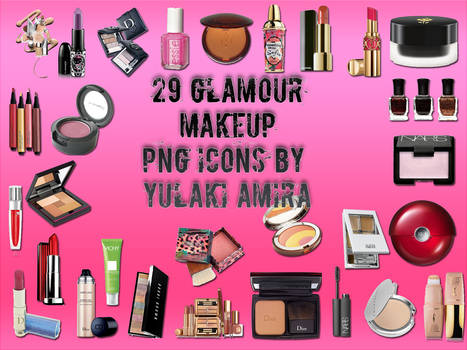 29 glamour makeup png icons