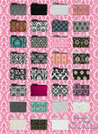 Damask style icons in ico and