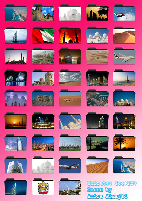 Emirates Icons in ico and png by amirajuli