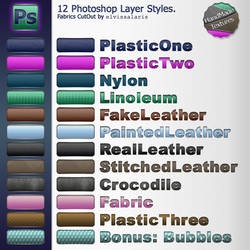12 Photoshop Layer Styles: fab by elvissalaris