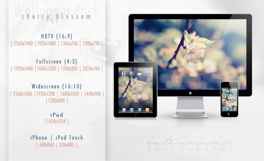 Cherry Blossom Wallpaper Pack by interiornoise
