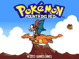 Mountains Red Title Screen by DurrCo-Arts