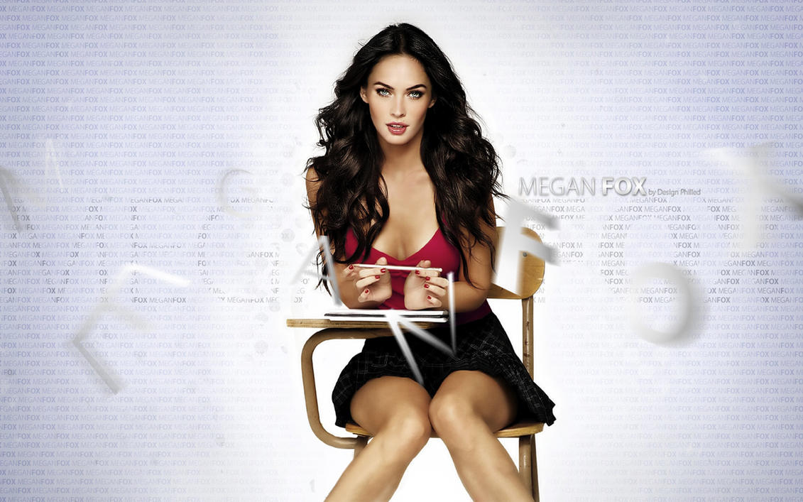 Megan Fox: Typography Desktop by DesignPhilled