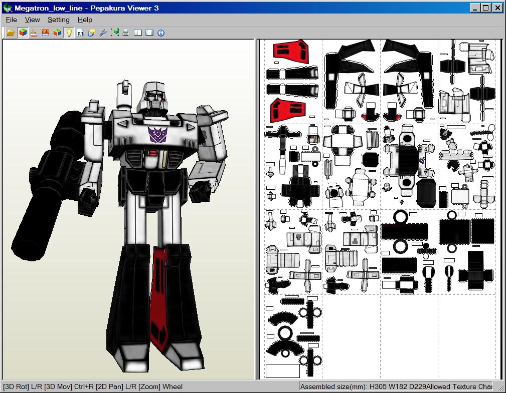 Megatron Papercraft Download 185795995 on Foam Animals Craft 2