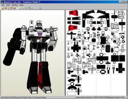 Megatron_Papercraft_Download