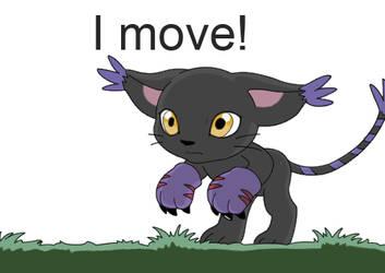 BlackGatomon Running by Agirl3003