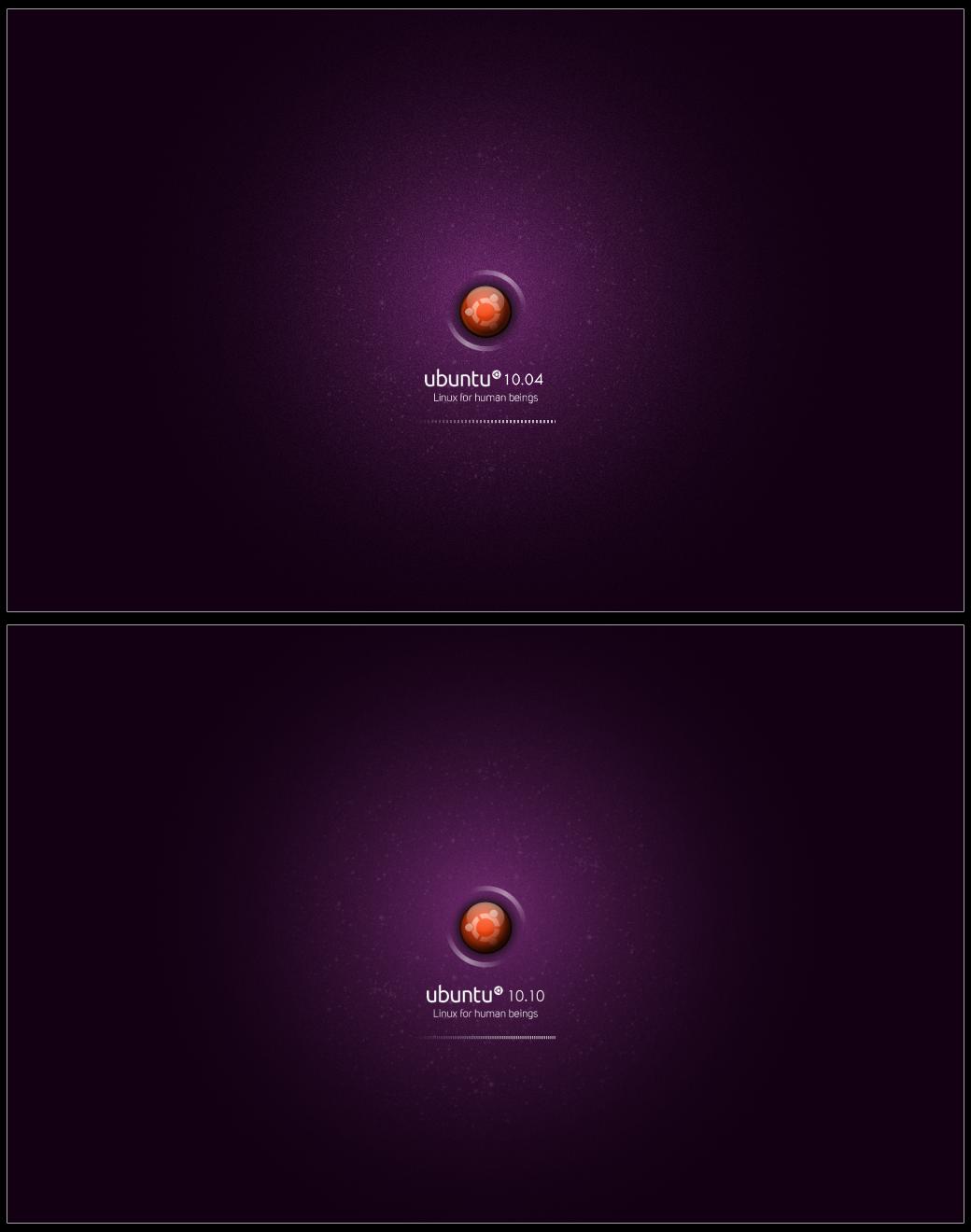 Ubuntu 10.10 Plymouth Splash